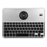 2038 Bluetooth Wireless Keyboard 7 LED Backlights Bluetooth Keyboard with Wireless Charging Function for IOS Android Windows Black