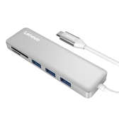 Lenovo 5-w-1 Ultra-cienki aluminiowy port USB typu C na 3 porty USB 3.0 Adapter USB-C Data Hub