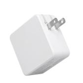 Carregador de parede USB tipo-tipo 45W USB-C PD Adaptador de alimentação de carga rápida com entrega de energia para MacBook iPhone8 iPhoneX EU Plug White