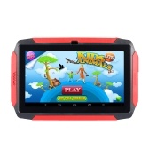 7 inch Kids Tablet Android 4.4 OS Learning Tablet 1024*600 Resolution 512MB+8GB Storage WiFi/BT Connection Black US Plug