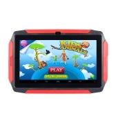 7-дюймовый Детский Планшет Android 4.4 ОС Обучающий Планшет 1024 * 600 Разрешение 512 МБ + 8 ГБ Хранение Wi-Fi / BT Подключение Черный США Plug