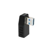 Adaptador USB 3.0 Vertical macho para fêmea Adaptador de ângulo esquerdo tipo A Adaptador Conector - Pacote de 1