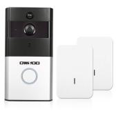 1 * OWSOO 720P WiFi Telefone de porta de intercomunicação visual + 2 * campainha de campainha sem fio