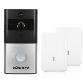 1 * KKmoon 720P WiFi Telefone de porta de interfone visual + 2 * campainha de campainha sem fio