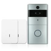 1 * 720P WiFi Telefone de porta de interfone visual + 2 * Campainha de campainha sem fio