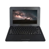 10.1inch Netbook Lightweight Portable Laptop ACTIONS S500 1.5GHz ARM Cortex-A9/Android 5.1/1G+8G/1024*600 Black EU Plug