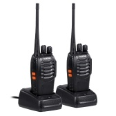 BAOFENG BF-888S UHF 400-470MHz FM Transceiver Two-way Radio Portable Handheld Walkie Talkie Long Distance 2PCS EU Plug