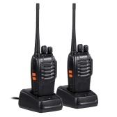 BAOFENG BF-888S UHF 400-470 MHz émetteur-récepteur FM Radio bidirectionnelle Portable talkie-walkie portable longue distance 2 pièces prise ue