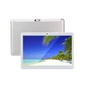 10,1-дюймовый восьмиядерный процессор планшета Android / 2 ГБ + 32 ГБ / ОС Android 9.0 / WIFI и BT / IPS HD-дисплей / 2,5D изогнутый экран, серебристый, европейский штекер