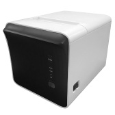 80mm USB WiFi BT Thermal Receipt Printer 250mm/s Printing Speed Auto Cutter Support Print Prompt Error Alarm White, EU Plug