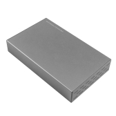 3.5in USB3.0 SATA III HDD Enclosure Hard Drive Protective Cover Carrying Case Shock Dust Proof EU Plug Grey