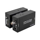 NK-C100IR HDMI sobre um único extensor coaxial 75ohm RG-6U 1080P cabo coaxial transmissor e receptor remetente