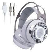 VOTS Professional Esport Gaming 7.1 Virtual Stereo Surround Sound Headset Headphone Música Baixo vibração sobre a orelha 3,5 milímetros USB com fio com Mic Luz LED