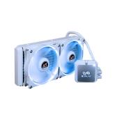 SOPLAY Liquid Freezer Sistema de refrigeração líquida de água CPU Cooler Hidráulica Bearing 120mm Dual Adjustable PWM Ventilador com luz LED branca