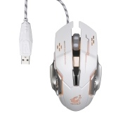 Livre Wolf Wired Gaming Mouse Profissional FPS Mouse com 4000DPI Silent Click RGB Light