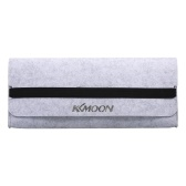 KKmoon Keyboard Storage Bag 87-key Keyboard Bag Felt Practical Elastic Band Durable Pouch Dust Proof Keyboard Bag Grey