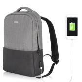 OSOCE Computer Backpack Laptop Notebook School Travel Bag with External USB Port Waterproof  Dark Grey
