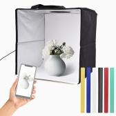 30 * 30 * 30 см портативный мини-световой короб для фотосъемки Складное освещение софтбокс Светодиодная палатка для съемки 120 шт. Бусины лампы 2900-5600 КБи-Цветовая температура Яркость, регулируемая с помощью фонов для фотографии продукта