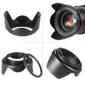 Andoer 55mm Filter Kit (UV+CPL+FLD) + Nylon Carry Pouch + Lens Cap + Lens Cap Holder + Lens Hood + Lens Cleaning Cloth