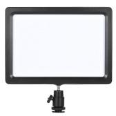 Andoer PAD-112 Slim LED vidéo Fill-in Light Panel 3200K-5600K température réglable CRI85 + pour Nikon Sony Caméscope Canon EOS Camera