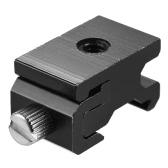 """Andoer Metall Blitz Speedlite Hot Shoe Mount Adapter Einstellbare Breite mit 1/4 """"Schraubenloch für Canon Nikon Yongnuo Godox On-Kamera-Flash-Aluminiumlegierung"""