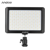 Andoer Mini Przenośna Dimmable Studio Wideo Fotografia Lampa LED Light 3200K / 6000K 192pcs Koraliki do Canon Nikon DSLR Kamera DV