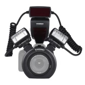 YONGNUO YN24EX E-TTL Macro Flash Speedlite 5600K with 2pcs Flash Heads and 4pcs Adapter Rings for Canon EOS 1Dx 5D3 6D 7D 70D 80D Cameras