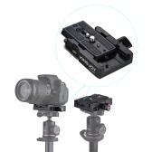 """Kingjoy KH-6251 Kamera Camcorder Schnellwechselplatte Stativ Monopod Adapter mit 1/4 """"3/8"""" Schraube Aluminiumlegierung für Manfrotto 501HDV / 503HDV / 701HDV / 577/519/561 / Q5"""