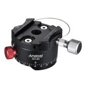 Andoer DH-60 Cabeza de bola panorámica Cabezal de indexación HDR Trípode Head