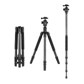 Andoer 64inch Lightweight Travel Carbon Fiber Tripod Monopod with Ball Head Carry Bag for Digital DSLR Video Camera Camcorder