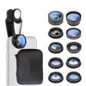 10 in 1 Universal Multifunctional HD Fisheye Wide Angle Macro 2X Telescope