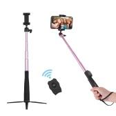MEFOTO Portátil Tripé Ajustável Monopé Titular Suporte Extensível Selfie Vara BT Conexão com Controle Remoto Sem Fio Ballhead para iPhone X / XS / 8 Plus / 8 Huawei Samsung Xiaomi