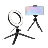 6inch LED Ring Light 3 Colors 3500-6500K Temperature 10 Levels Dimmable