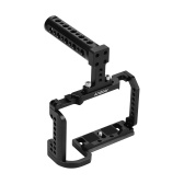 Andoer Video Camera Cage + Top Handle Kit Aluminum Alloy with Cold Shoe Mount 1/4 Inch Screw Holes Compatible with Nikon Z6/Z7