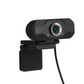 USB Webcam 1080p HD 30fps Desktop Clip-On PC Laptop Camera