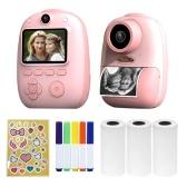 D10 Sofortbildkamera Fotodrucker 1080P HD Mini-Digitalkamera für Kinder - Rosa, keine TF-Karte