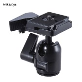 "Veledge Pro Aluminum Alloy Photography Panoramic Ball Head Ballhead w/ Quick Release Plate Base 1/4"" Screw Max. Load Capacity 10kg for Canon Nikon Sony DSLR Digital Camera"