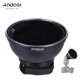 "Andoer 5.9"" (15cm) Silver Beauty Dish Diffuser w/ 30 Degree Honeycomb for Neewer Canon Nikon Yongnuo Godox  Meike Vivitar Photography On-camera Flash Speedlite Speedlight"