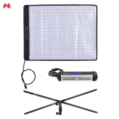 FalconEyes RX-18TD 100W Bi-color 3000K - 5600K Dimmable 504pcs LED Light Rollable Cloth Lamp CRI95 w/ LCD Touch Screen Controller + X-shape Support for Canon Nikon Sony DSLR Camera Camcorder Photo Studio Video Film Portrait Shooting