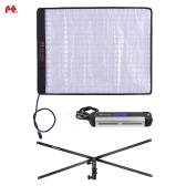 FalconEyes RX-18TD 100W 3000K Bi-couleur - 5600K Dimmable de LED enroulable tissu lampe CRI95 w / LCD contrôleur d