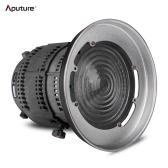 Aputure Fresnel Mount with Adjustable Lens Light-Shaping Tool for Aputure Light Storm COB 120T 120D and other Bowens Mount Lights - 12 to 42° Beam Angle 14000lux@0.5M to 67000lux@0.5M