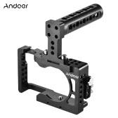 Andoer Aluminiumlegierung Kamera Käfig für Sony A6500 ILDC Kamera