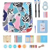 10 en 1 Kit d'accessoires pour Fujifilm Instax Mini 8/8 + / 8s / 9 Inclure le boîtier de l'appareil photo / Strap / Selfie Mirror / Filter / Album / Corner Sticker / Photo Frame / Photo Sticker / Pen