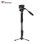 Weifeng WF-3958M Professionelle Tragbare Aluminiumlegierung Kamera Einbeinstativ
