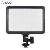 Andoer LED204 LED Video Light Fill Light z 204szt. Koraliki lampowe bezstopniowe przyciemnianie 3300K-5600K Bi-kolor Temperatura CRI90 do fotografii ślubnej Product Shooting Live Stream Micro Film News Wywiad