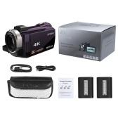 Grabadora de la videocámara de la videocámara de Andoer 4K 1080P 48MP WiFi Digital
