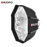 TRIOPO 55cm pliable Octagon 8-Soft Softbox avec sac de transport de tissu doux Bowens Mount pour Studio Strobe Flash Light