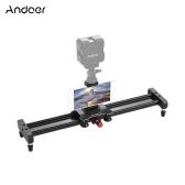 Andoer 40cm / 15.7inchアルミ合金カメラビデオスライダートラックレールスタビライザー、電話三脚マウント