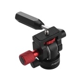 "Andoer Professional Mini Phone Video Trípode Head Video Trípode Acción Fluid Drag Pan Head con 1/4 ""Montaje de tornillo para teléfono Fotografía Video Making Max Load 3kg"