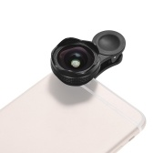 25mm Caliber 4K HD Super Wide Angle Lens with 15X Macro 2 in 1 Set No Distortion for Mobile Phone